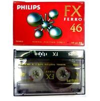 2X PHILIPS BLANK CASSETTE AUDIO TAPES HIFI CAR RECORDER FX FERRO 46 HIGH QUALITY