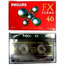 2X PHILIPS BLANK CASSETTE AUDIO TAPES HIFI CAR RECORDER FX FERRO 46 HIGH QUALITY
