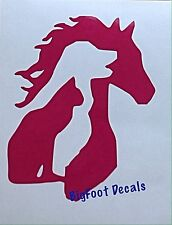 Cat Dog Horse Decal Farm Pets Car Truck SUV Wall Window Sticker