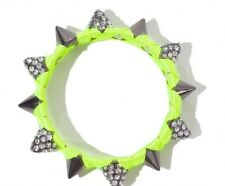 ZARA NEON GREEN YELLOW BRACELET WITH SPIKES AND CRYSTALS