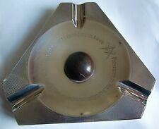 Solid Silver Art Deco Ashtray with Masonic inscription and dedication