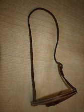 Harness leather stitched cavison noseband western OILED USA custom cowboy H975