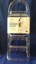 Clear Acrylic Large 3 Shelf Shower Shampoo Soap Caddy