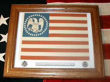 Framed 34 star Flag, American Eagle Civil War Flag