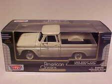 1966 Chevy C-10 Fleetside Pickup Truck Die-cast 1:24 Motormax 8 inch Cream White
