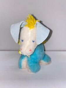Vintage 1960s EDEN Musical Donkey Infant Plush Toy 7.5 Inches EC
