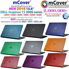 """mCover Hard Case for 15.6"""" Dell 15 3000 (3552/3558/3559/3560/5558/5559) laptop"""