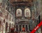 ST BARTHOLOMEW'S CHURCH LONDON OLD ENGLAND BRITISH ART CANVAS PAINTING PRINT