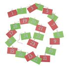 CHRISTMAS ELF MINI ENVELOPE ADVENT CALENDAR W/STRING,PAPER CLIPS,AND NUMBERS PRO