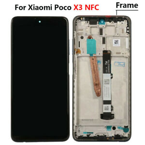 For Xiaomi POCO X3 NFC LCD Display Touch Screen Digitizer +Frame Replacement New