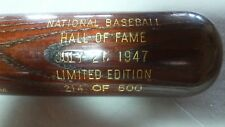 1947 Grove, Cochrane, Hubbell +1 Baseball Hall of Fame Induction Bat 214/500