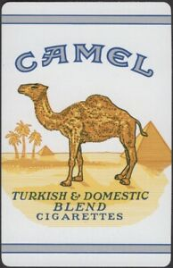 Playing Cards Single Card Old Vintage CAMEL CIGARETTES Tobacco Advertising Art C