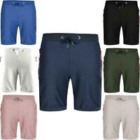 Mens Fleece Shorts Pique Summer Jogger Jogging Gym Pants Running Jersey Bottoms
