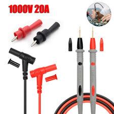 1000v 20a Multimeter Cable Probe Test Lead Alligator Clip Fr Agilent Fluke Clamp