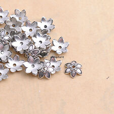 Wholesale 100pcs Tibetan Silver Tone Small Flower Space Bead Caps 9mm DK36