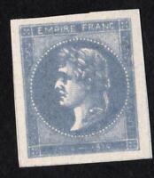 """ESSAI ancien CINDERILLA """" EMPIRE FRANC 1804 1814 """" couleur BLEU LAITEUX"""