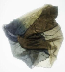 Vintage Emporio Armani Tri Coloured Sheer Silk Scalf   A05