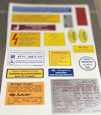 Mercedes-Benz W114 W115 Decal Set Stickers Set For All Models Best Quality