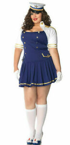 Leg Avenue 83826X Ship Shape Captain Halloween Costume Plus Size