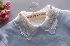New Detachable Women Cotton Lapel Shirt Fake False Collar Choker Necklace