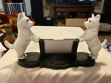 Cast Iron~West Highland Terrier~Business Card Holder~11�W X 5.75� H