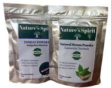 Indigo Poudre & Henné pour Naturel Noir Cheveux Teinture 100% Pure (2 X 100g