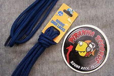 "Navy Blue Thin Round 45"" x (1/8""-3/8"") JN Shoelaces Shoe Strings Piranha Records"