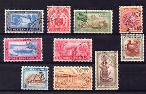 Western Samoa (7014) 1952 set good used Sg 217-228
