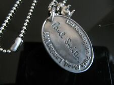 AUTHENTIC PAUL SMITH DOG TAG PENDANT CHAIN NEW WITHOUT TAGS