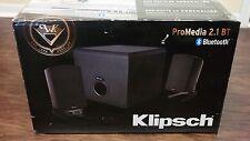Klipsch ProMedia 2.1 BT Computer Sound System Speakers Black