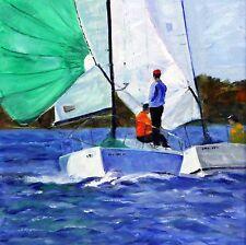 Spring Sailing Season Begins -- Giclee Print by Shelley Koopmann