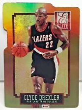 Clyde Drexler 2013-14 Panini Elite #299 - GOLD Status Die-Cut Parallel #'d 23/24