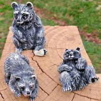 5 sets of 3 Black Bear Figures Resin 15 Bears in Total