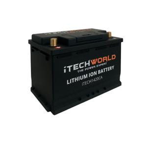 iTECH1420CA Lithium Car Battery 12V Stop Start 1420amp 60Ah