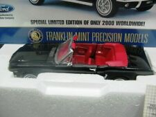 WOW Extremely RARE Ford Mustang 260 Convertible 1964 Black 1 24 Franklin Mint-gt