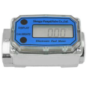 LED High Accuracy Gas Oil Fuel Flowmeter Turbine Flow Meter For Adjust Chemicals