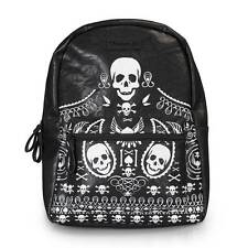 Loungefly Bandana Sugar Skull Faux Leather Backpack Purse School Bag Carry All