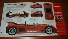 ★★1998 ULTIMA SPYDER SPEC SHEET BROCHURE PHOTO INFO PAMPHLET V8 92-99★★