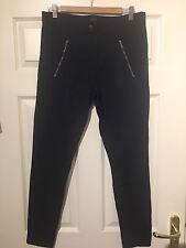 J Crew Pixie Pants Trousers Size 16 Long Navy Blue Leggings