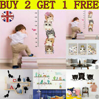 Wall Sticker Vinyl Cute Kitten Cat Bedroom Fridge Decal Home Mural Art Decor TK