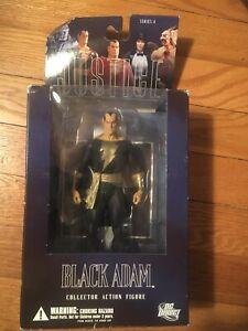 DC COMICS DC DIRECT BLACK ADAM ACTION FIGURE ALEX ROSS JUSTICE LEAGUE MIB