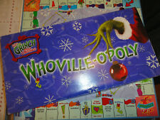 WHOVILLE-OPOLY Grinch Board Game - Replacement Pieces Parts - Made 1 Year 2000