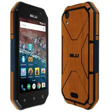Skinomi Light Wood Skin+Clear Screen Protector for BLU Tank Xtreme 4.0