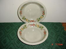 """2-PIECE WEDGWOOD """"QUINCE"""" 7 1/4"""" SOUP BOWLS/ENGLAND/VARIOUS FRUIT/CLEARANCE!"""