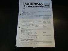 Original Service Manual Grundig RF 800