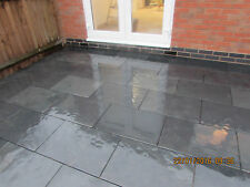 Black Slate Paving✔ Patio Slabs Garden  ✔60m2 600x400mm 15 mmThick ✔FREE DEL