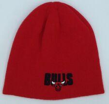 032c733c NBA Chicago Bulls Adidas Cuffless Winter Knit Hat Cap Beanie NEW!