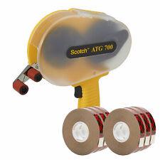 "3M Scotch 700 ATG Applicator + 3M Scotch 924 Tape 1/2"" x 36 yd 6 Rolls"