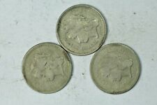LOT OF (3x) THREE CENT NICKELS -  3CN NICER CONDITION 1865, 1866, 1868