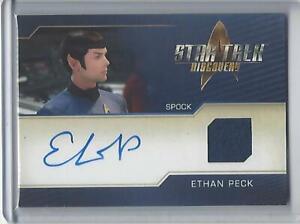 Star Trek Discovery Season 2 Ethan Peck Autograph Costume Relic
